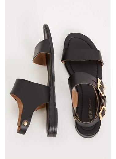 DeFacto Tokalı Sandalet Siyah